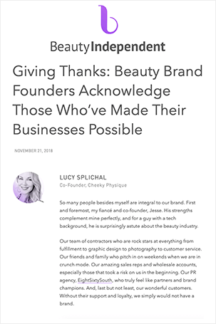Press Clipping - Beauty Independent