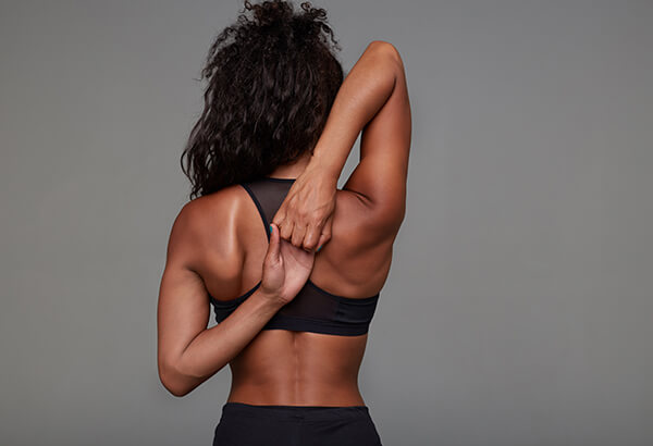 woman with toned triceps