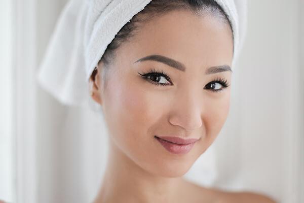 woman with fresh skin