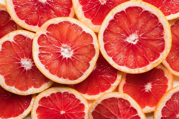 slices of grapefruit