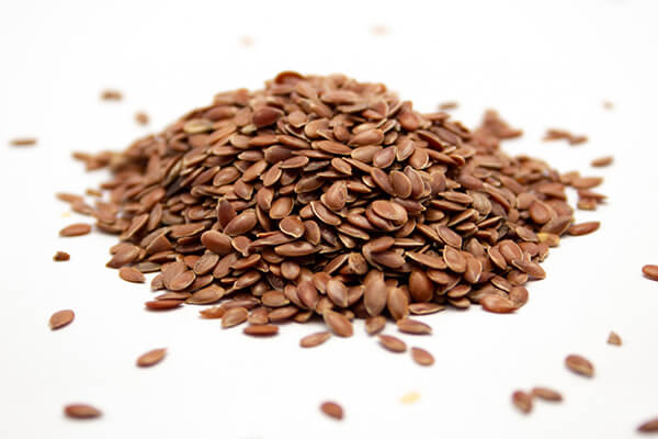 grains of flaxseeds