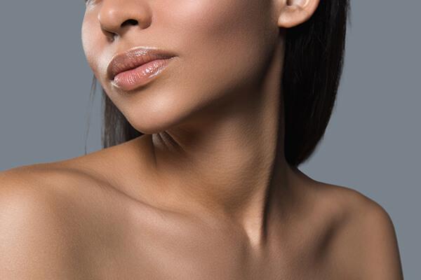 beautiful neck of woman