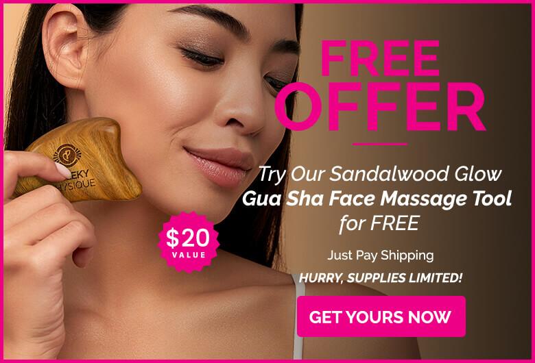 free gua sha banner ad