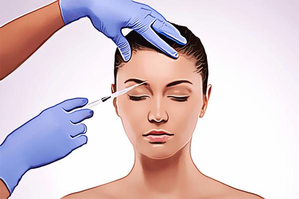 woman having botox