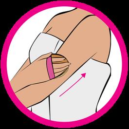 dry brushing arm icon