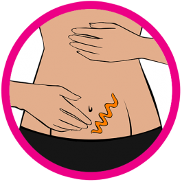 tummy with product icon